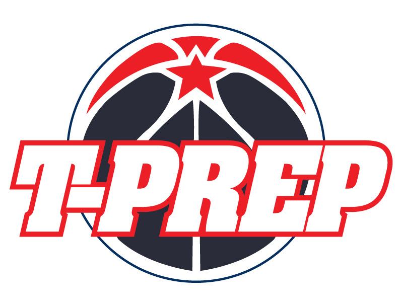 T prep  basketball ball logo